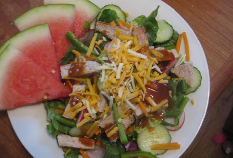 Recipe – Honey Hoisin Pork Chop Salad
